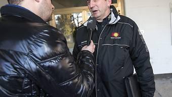 Sierre-Präsident Silvio Caldelari (r.) muss den Konkurs erklären.