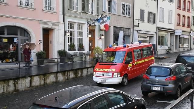 Feuerwehreinsatz in der Brugger Altstadt