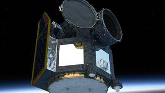 Künstlerische Darstellung des Cheops-Weltraumteleskops im Orbit.