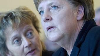 Bundesrätin Eveline Widmer-Schlumpf (links) mit der deutschen Bundeskanzlerin Angela Merkel