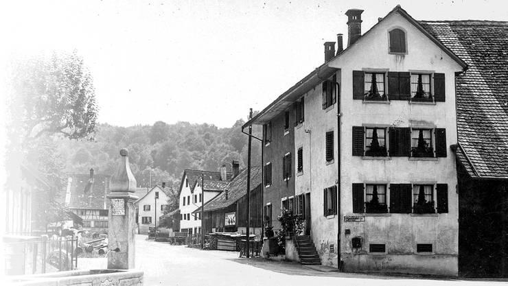 Die Sägestrasse war Zentrum des landwirtschaftlich geprägten Schlierens..
