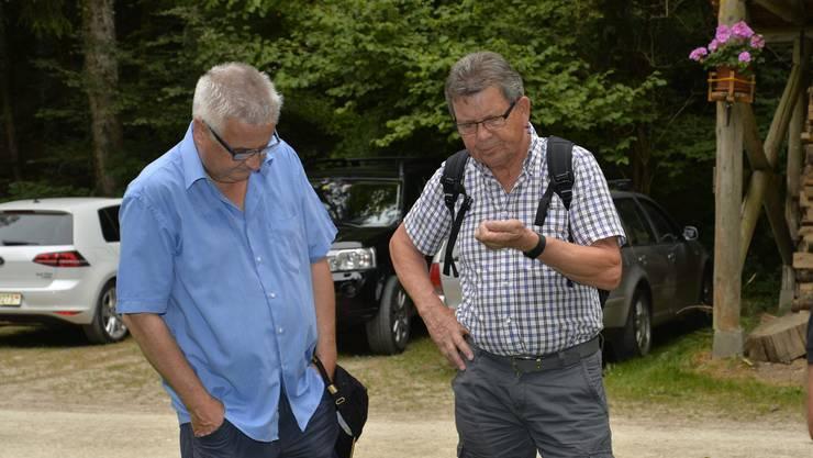 Abendwanderung von Messen durch den Bucheggberger Wald zum Forsthaus Messen und zurück mit 32 Teilnehmern 35