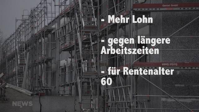 Baubranche: Gewerkschaften fürchten Rentenalter 60
