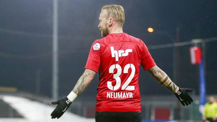 Seht her, wie schön ich getroffen habe: Markus Neumayr nach seinem Traumtor zum 2:0 gegen den FC Wil
