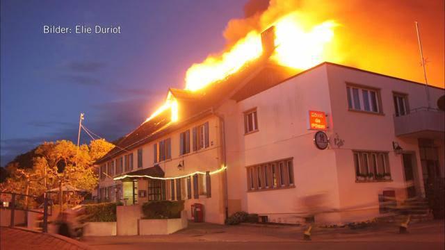 Verletzte nach Hotel-Brand