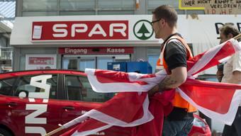 Das Aargauer Einigungsamt soll eine Einigung zwischen Spar und der Unia erzielen