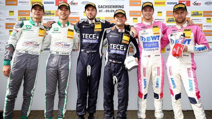 Mit nur einer Sekunde Rückstand auf den ersten Platz belegte das Duo Schmidt/Mücke im zweiten Rennen den dritten Platz.