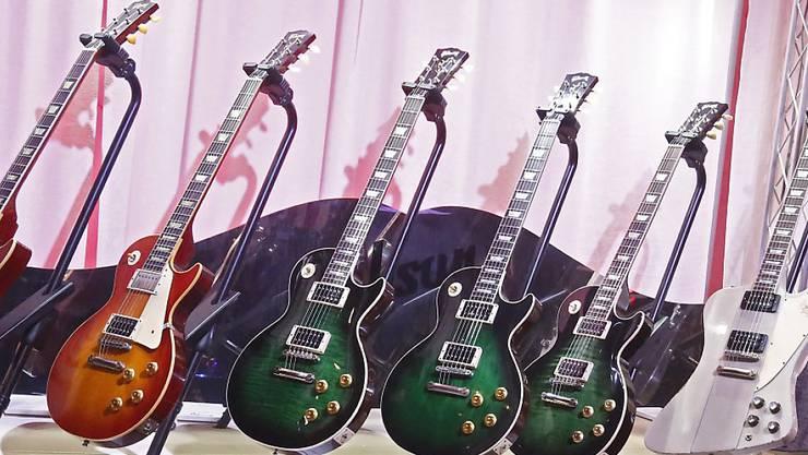 Die E-Gitarren von Gibson wird es bald vielleicht nicht mehr geben - die Firma hat Gläubigerschutz beantragt. (Archivbild)