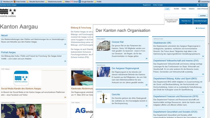 So hat der Kanton Aargau sein Web-Portal aufgepeppt