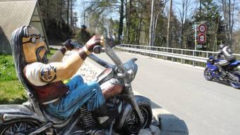 Wegen Corona-Pandemie weniger Biker beim Chalet «Saalhöhe»