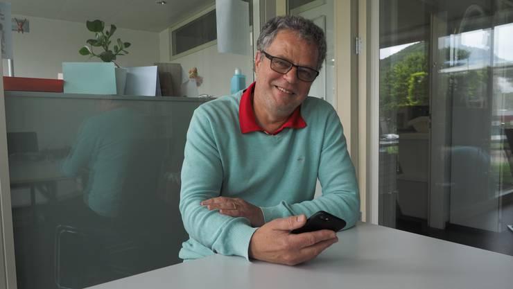 Andre Rotzetter verspricht sich von der Tracing-App, dass schneller klar ist, wer isoliert werden muss.