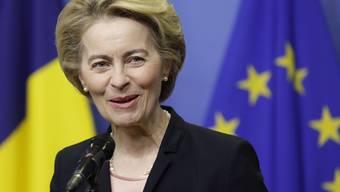 Auf ihr ruhen die Hoffnungen der Schweizer Medtech-Branche: Die neue EU-Kommissionspräsidentin Ursula von der Leyen.  EPA/OLIVIER HOSLET