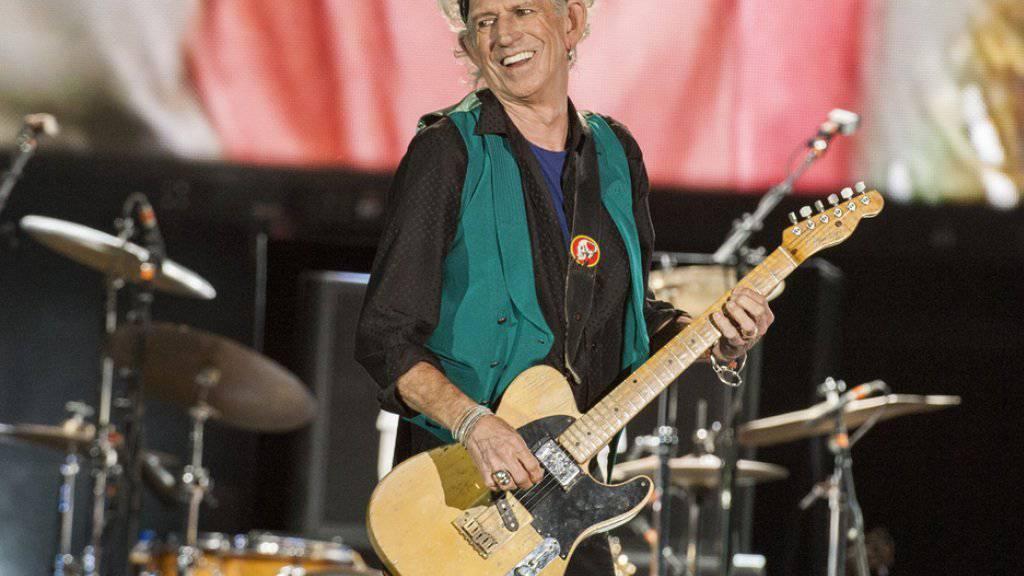 Plan oder Angeberei? Keith Richards hat für nächstes Jahr das erste Stones-Album seit elf Jahren angekündigt (Archiv)