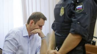 Der russische Oppositionsführer Alexej Nawalny vor Gericht