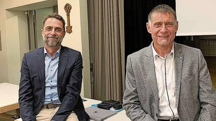 LLS-Geschäftsführer Jörg Kyburz (r.) mit seinem Stellvertreter und möglichen Nachfolger Markus Schenk.