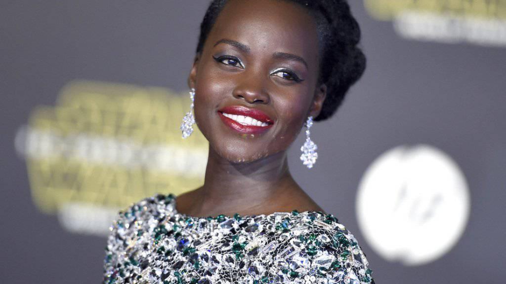 """Vorgesprochen hat sie ins Blaue hinaus: Erst später erhielt Lupita Nyong'o die Nachricht, dass sie in """"Star Wars"""" die Rolle der Piratin Maz Kanata spielen könne (Archiv)."""