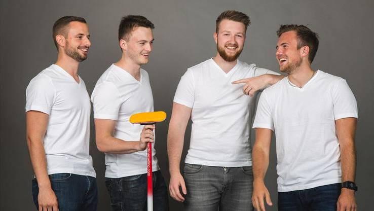 Will in Baden die Konkurrenz fordern: Das Team Schwaller mit Marcel Käufeler, Michael Brunner, Yannick Schwaller und Romano Meier (v.l.).