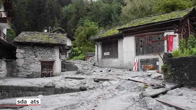 Die Zerstörung in Bondo in der Roten Zone