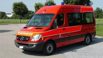 Ein Mercedes Sprinter soll bald für die Feuerwehr Wabrig im Einsatz sein. – Foto: pd
