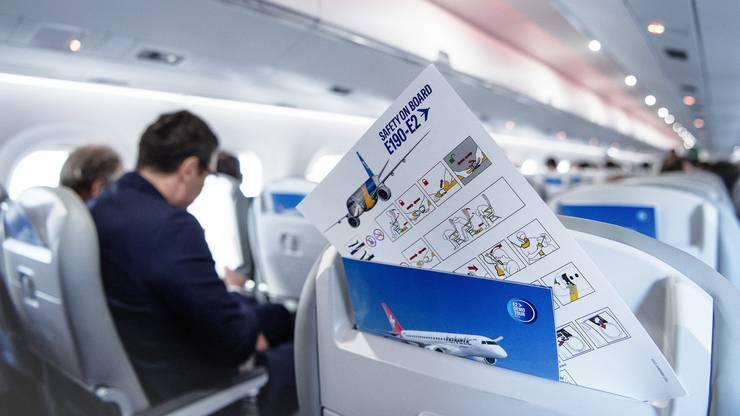 Im neuen Embraer E2-190 der Helvetic Airways gibt es keinen (unerwünschten) Mittelsitz.