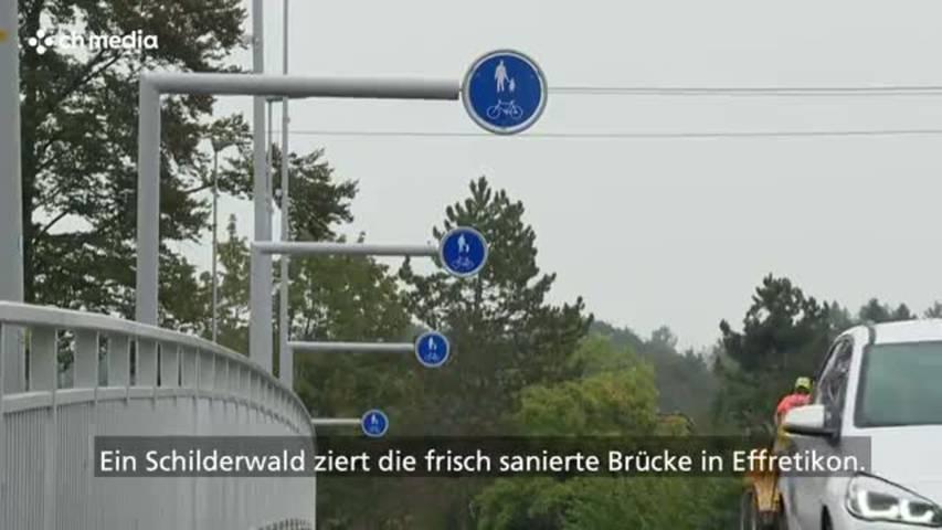 Kurioser Schilderwald in Effretikon erstaunt Passanten