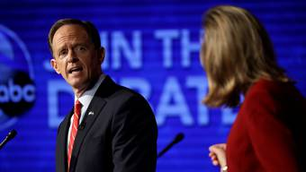 Der Republikaner Pat Toomey und die Demokratin Katie McGinty in einer Fernsehdebatte.Matt Rourke/AP/Keystone