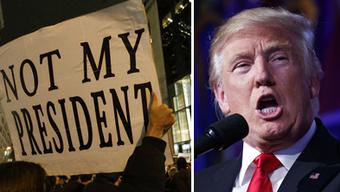 Seit der Wahl zum Präsidenten gab es immer wieder Proteste gegen Donald Trump.