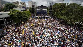 """Die """"Einnahme von Caracas"""" durch Regierungsgegner am Donnerstag."""