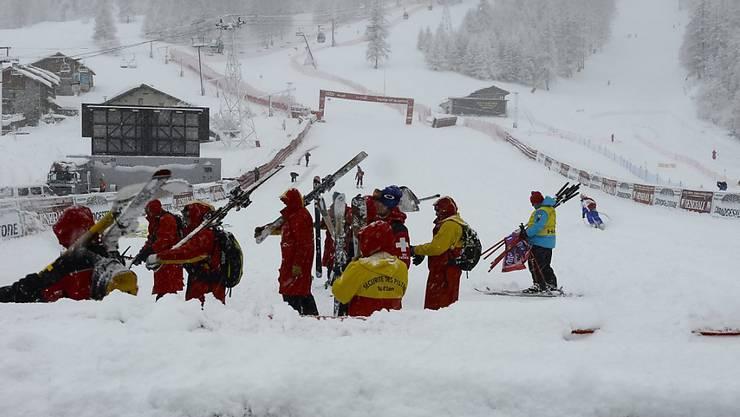 Die Durchführung des Weltcuprennens in Adelboden steht in der Schwebe (Archiv)