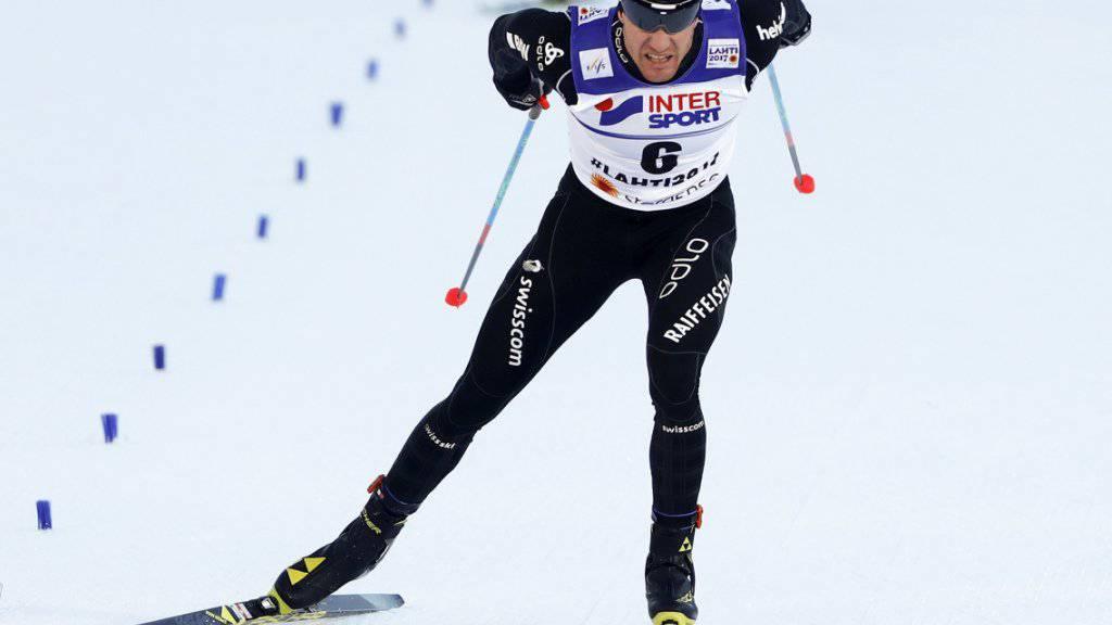 Dario Cologna auf der Zielgeraden