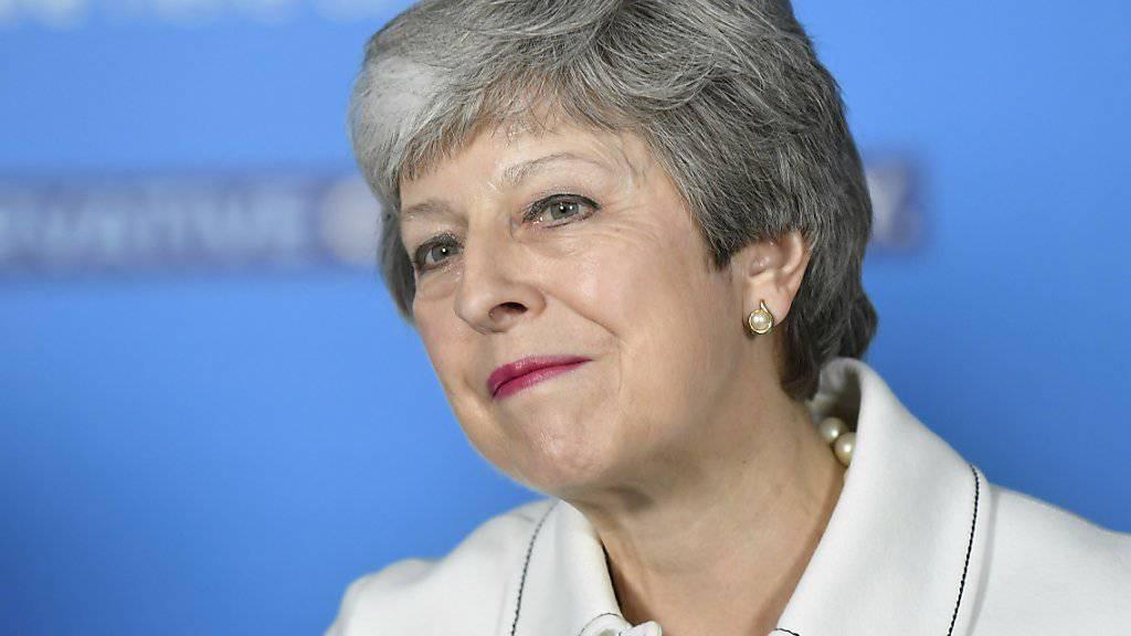 Glaubt weiter an einen Brexit-Deal: die britische Premierministerin Theresa May. (Archivbild)