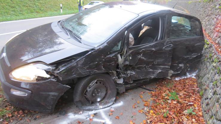 Ein Peugeot-Fahrer geriet auf die Gegenfahrbahn und krachte in einen Fiat.