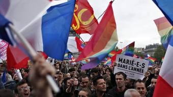Tausende feiern das neue Gesetz zur Homo-Ehe