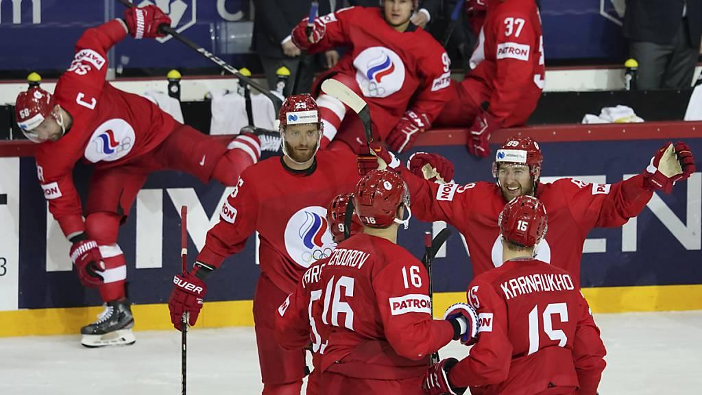Die Russen wollen auch nach dem Spiel gegen Kanada jubeln