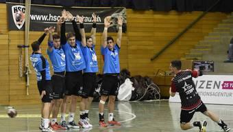 Sieg der Handballer von HSC Suhr Aarau gegen Lakers Stäfa