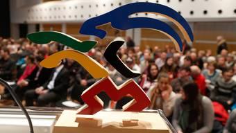 Der Steinbock in den olympischen Farben: Das Symbol der gescheiterten Bündner Olympia-Kandidatur 2022.