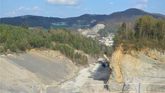 Die Jura-Cement-Fabriken AG ersucht um die vierte Abbaubewilligung für den Steinbruch am aktuellen Standort. Janine Müller