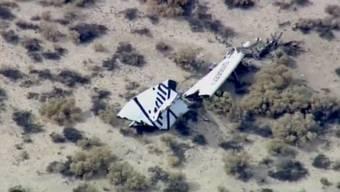 Spaceship Two abgestürzt