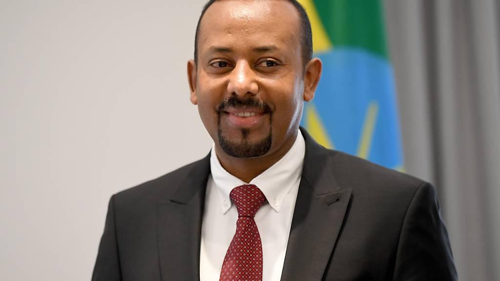 ARCHIV - Abiy Ahmed, Ministerpräsident von Äthiopien,  bei einem Treffen mit dem deutschen Bundespräsidenten Steinmeier, im vergangenen Jahr. Foto: Britta Pedersen/dpa