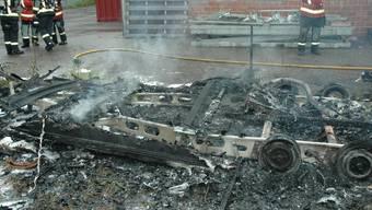 In Kappel brannte ein Wohnwagen aus