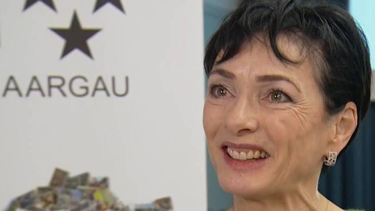 Präsidentin der CVP Aargau Marianne Binder führte mit den Nominierten Gespräche.