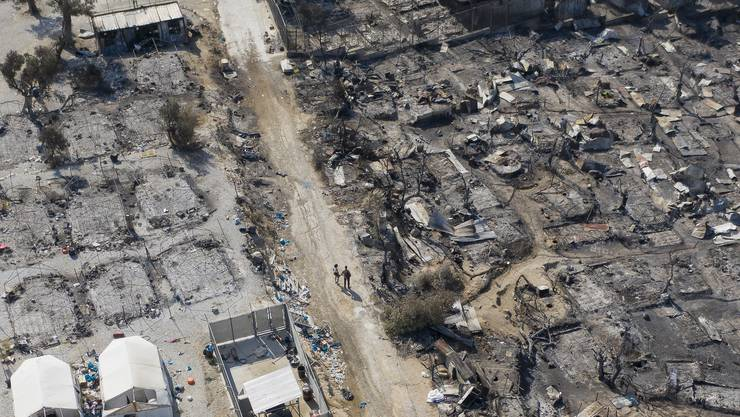Grosse Teile des Flüchtlingslagers Moria wurden durch die Brände zerstört, rund 12'000 Menschen wurden obdachlos.