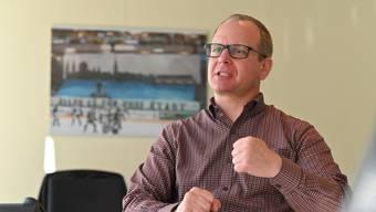 Patrick Reber, CEO / Geschäftsführer EHCO, im Interview nach 100 Tagen im Amt. EHC Olten Eishockey Eishockeyclub Olten