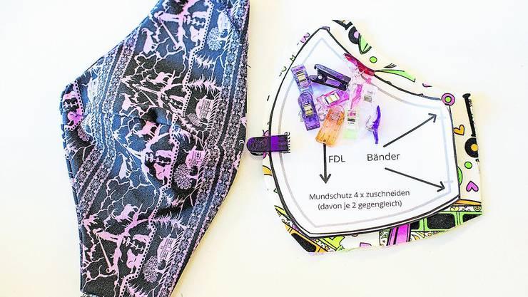 Selbstgenähte Do-It-Yourself-Masken bestehen meist aus mehreren Lagen Baumwolle und dienen allenfalls dazu, Tröpfcheninfektion zu erschweren.