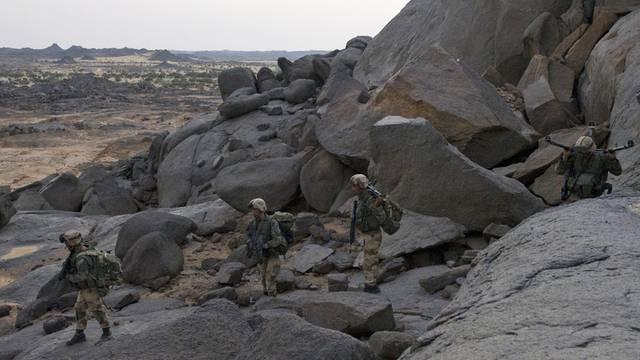 Französische Soldaten auf Patrouille im Norden Malis (Symbolbild)