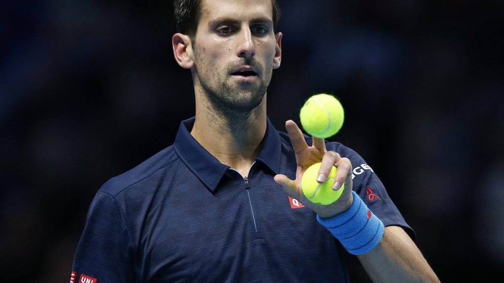 Schwach gestartet, aber doch in der 2. Runde vo Doha: Novak Djokovic