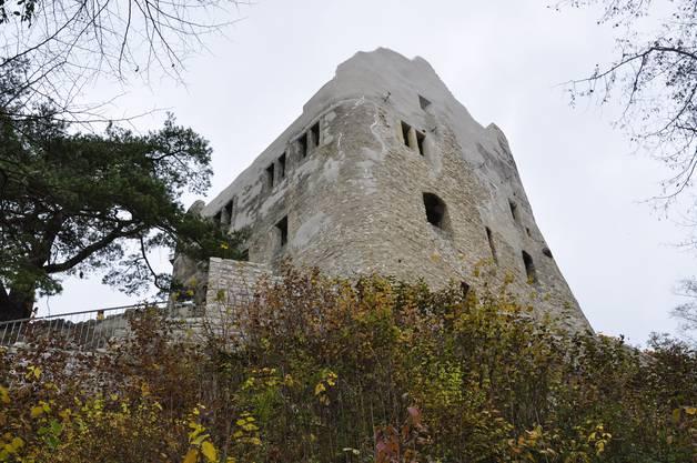 Die sanierte Ruine Homburg oberhalb von Läufelfingen.