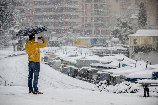 Das Tessin versinkt im Schnee-Chaos. (6)