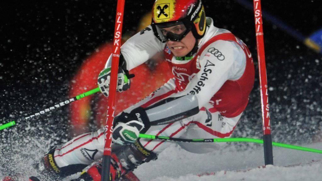 Der Österreicher Marcel Hirscher beim Weltcup-Parallelslalom am 1. Januar 2013 in München.