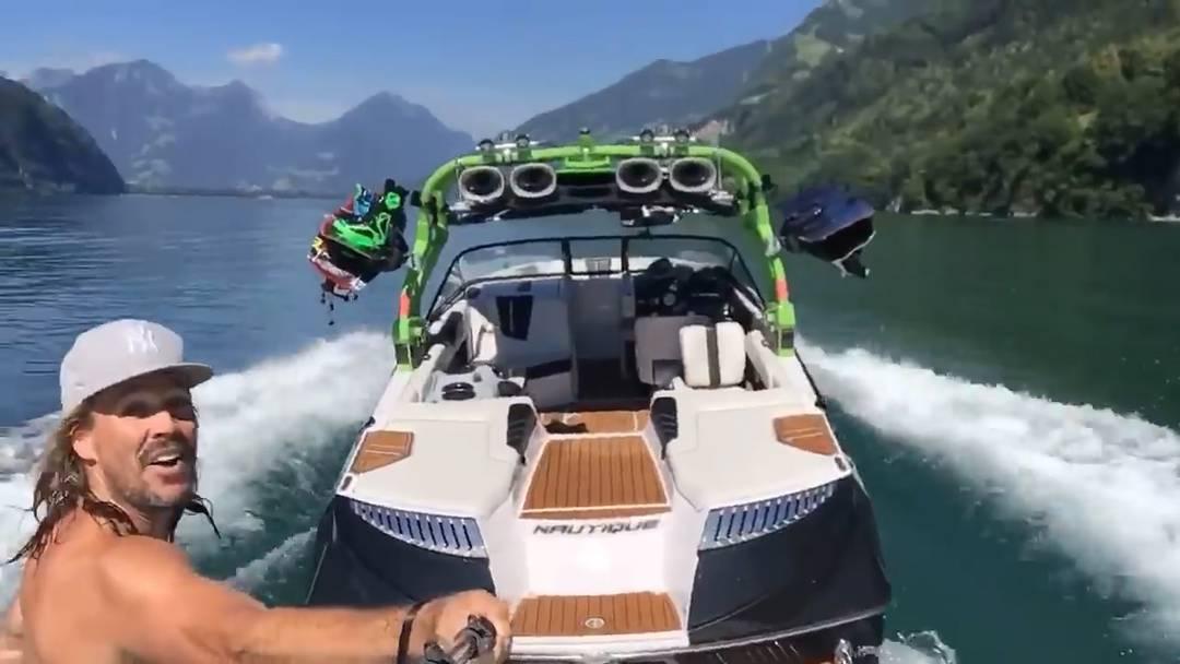 Das Video des Anstosses: Oliver Lawson auf dem Walensee.